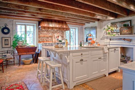 brick backsplash and copper hood would look great with 4 types of kitchen range hoods to transform your kitchen