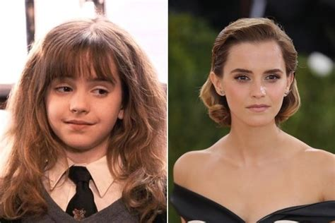 emma stone then and now emma watson hermione granger then and now the cast of