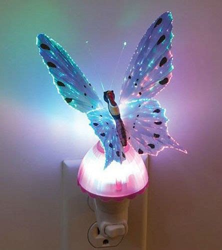 butterfly night light l fiber optic butterfly led color change night light l