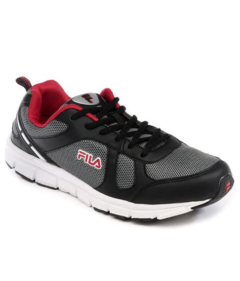 fila sport shoes buy fila black sports shoes for snapdeal