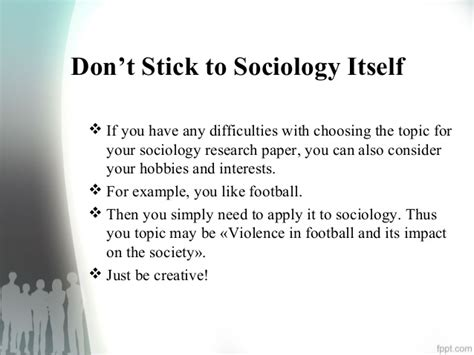 Sociology Essay Topics by Thesis Sociology Topics