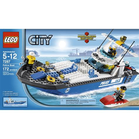 boat city lego city police boat 7287 building toy