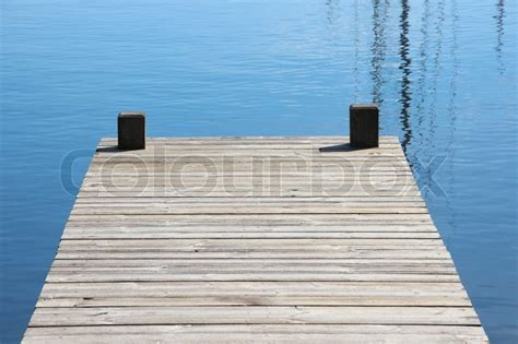 boat landing jetty bathing jetty and landing stage for boats with blue water