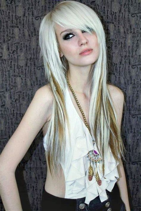 girl hairstyles blonde emo hair styles with image emo girls hairstyle with long