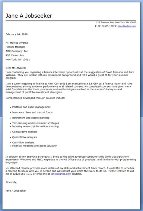 Resume Cover Letter Internship Cover Letter For Internship Position Resume Downloads