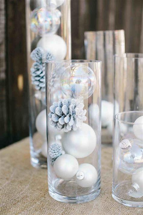 centerpieces ideas 91 winter wedding centerpieces with ornaments 40