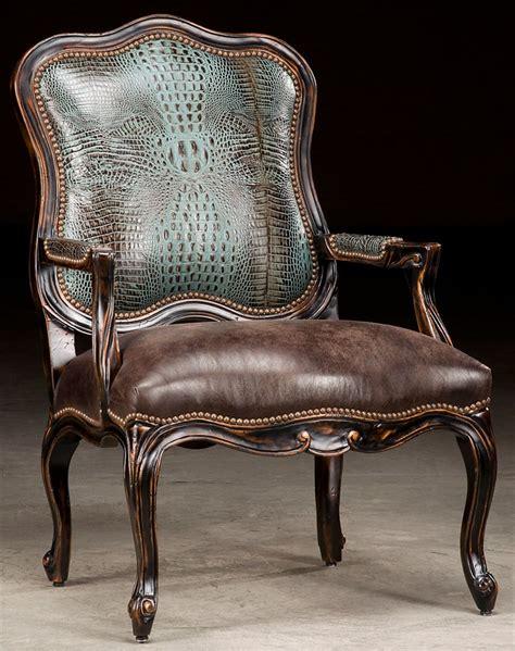 Leather Accent Chair Croc Leather Accent Chair
