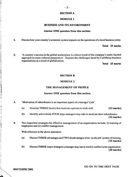 Paper Business - 2008 cxc past paper mathematics