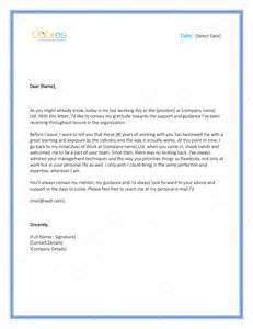Thank You Letter To After Resignation by Thank You Letter To 8 Plus Best Sles And Templates