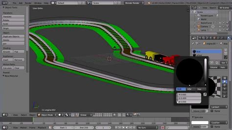 Blender Tutorial Train | blender tutorial making a train animation by following a