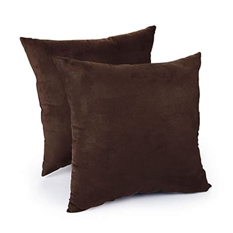 big lots throw pillows for faux suede chocolate decorative pillows 2 pack big lots