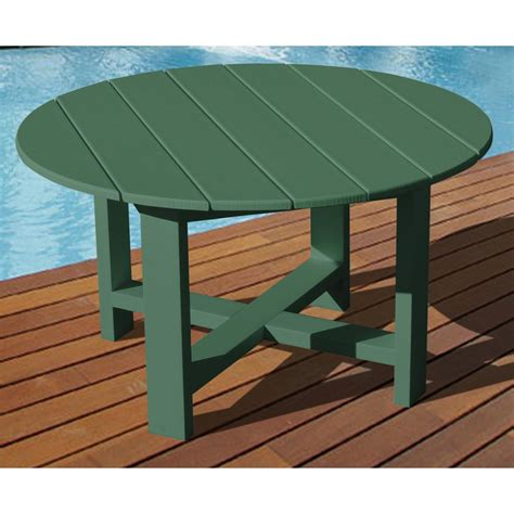 Plastic Patio Table Vifah 174 Recycled Plastic 40 Quot Outdoor Conversation Table 218663 Patio Furniture At Sportsman S