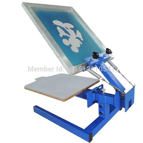 manual 1 color 1 print bed table top t shirt screen