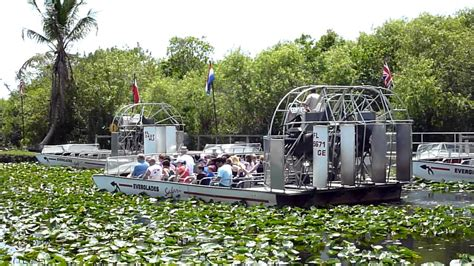 fan boat tours miami large airboat in the everglades safari park youtube