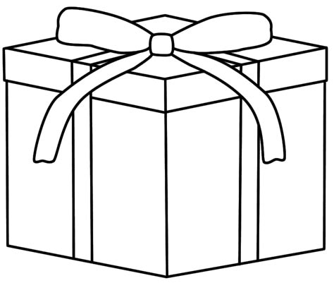 coloring pages christmas presents christmas gift coloring page coloring home