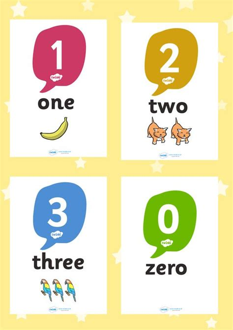 printable numbers eyfs twinkl resources gt gt 0 20 number word image posters