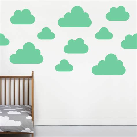 cloud stickers for walls cloud wall stickers by chip notonthehighstreet