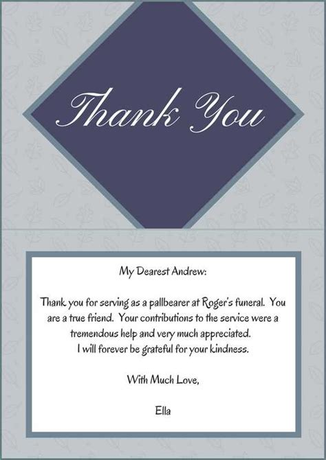 Words To Say Thank You For The Mass Card