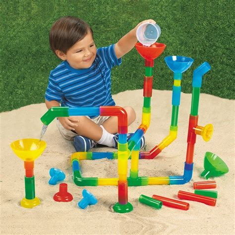 play toys tunnels and pipes set of 50 waterways pipe builder set 50 children s water toys