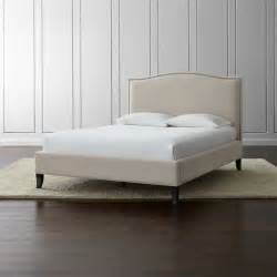 Where To Buy A Size Bed Frame Colette Upholstered Bed Crate And Barrel