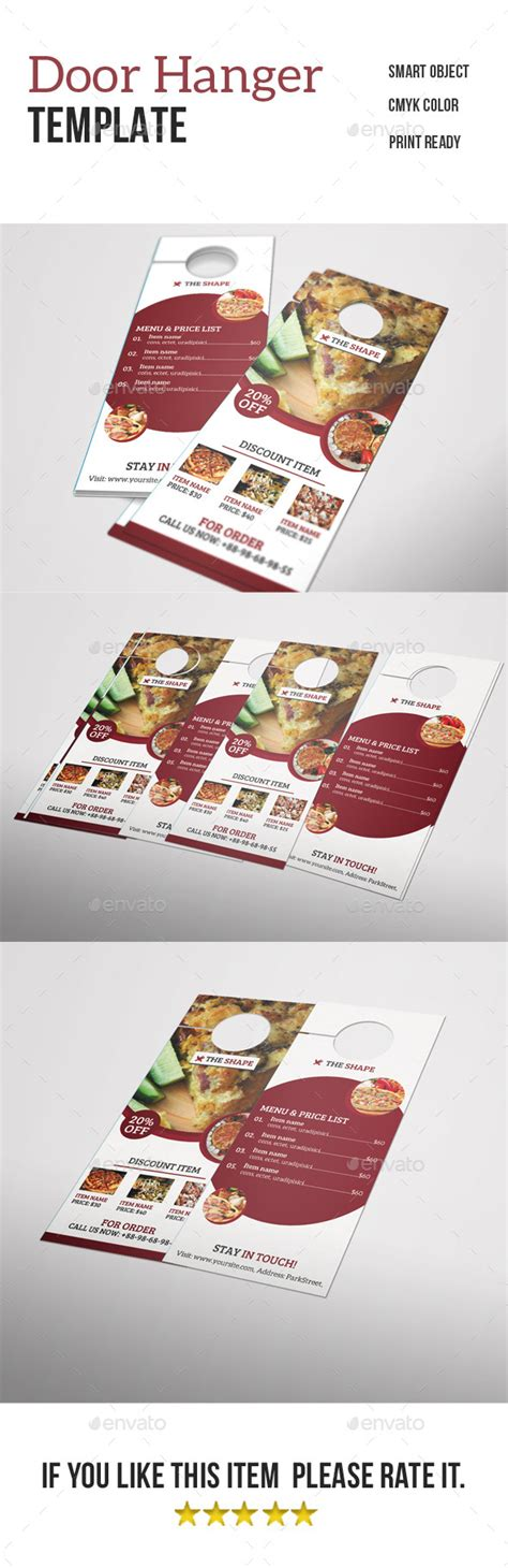 restaurant door hanger template restaurant door hanger by nirmola graphicriver