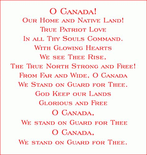 o canada lyrics printable version canada s national anthem wasn t always the version we know