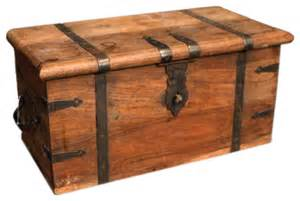Wooden Chest Coffee Table Vintage Wooden Trunk Ii