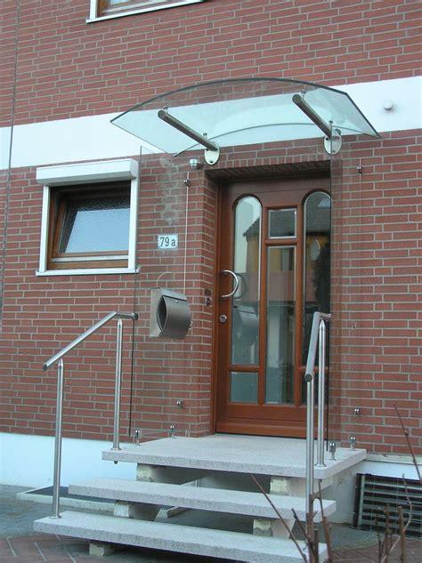 beleuchtung vordach edelstahl vordach mit gebogenem glas und integrierter