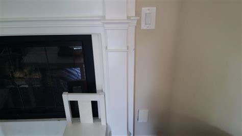 disconnect gas fireplace starter switch from outlet