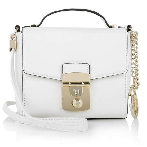 Flap Crossbody Bag trussardi flap crossbody bag in white