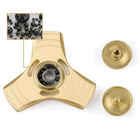 Fidget Spinner Ring Silver Besi Toys Tri Spinner Mainan Pabrikan ally metal tri spinner fidget ceramic edc finger