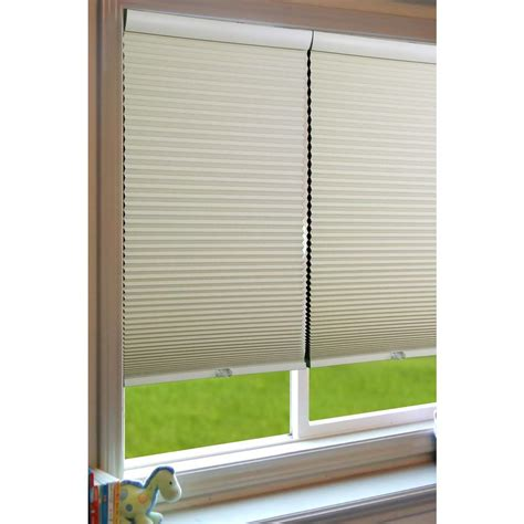 5 head l shades perfect lift window treatment ivory white cordless