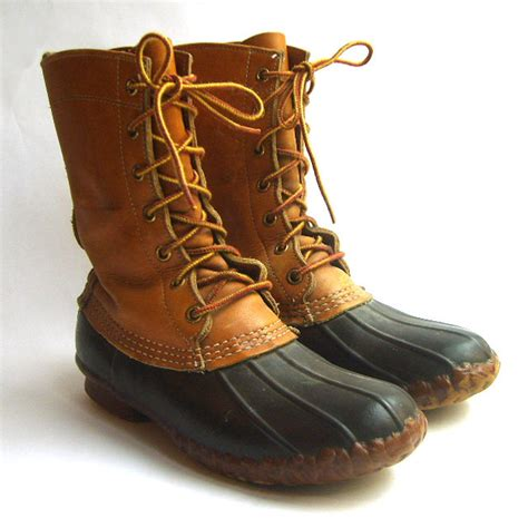 womens vintage ll bean leather duck boots size 7