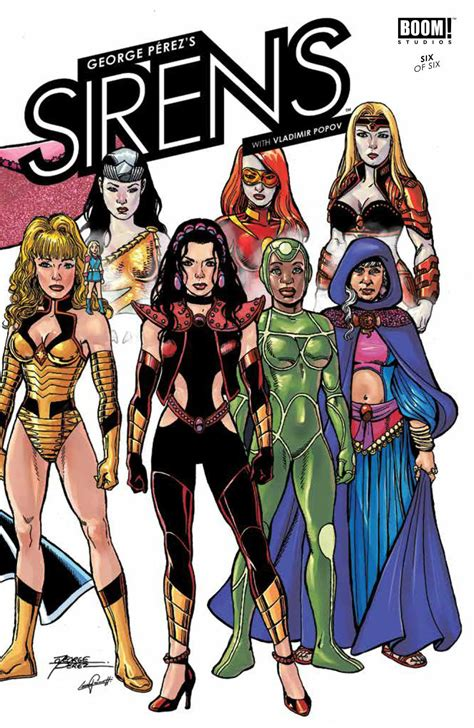 george perez s sirens books rich reviews george perez s sirens 6 comics news