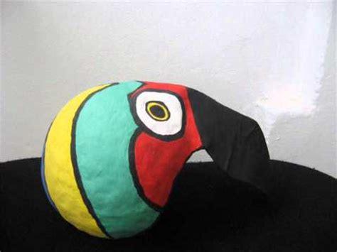 mascara de papel de un tucan m 225 scaras en papel mach 233 youtube