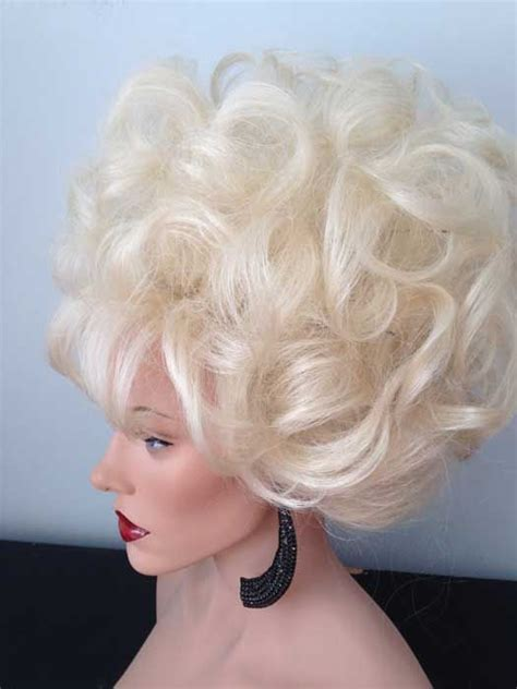 Wigs Updos Big | oversized blonde updo drag wig drag queen wigs