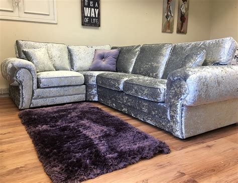 silver grey corner sofa express delivery uk dino sofa brown mink crushed velvet