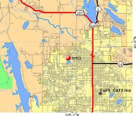 Fort Collins Zip Code Map by 80521 Zip Code Fort Collins Colorado Profile Homes