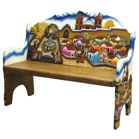 mexican bench carved collection pueblo bench cb210