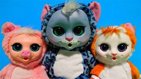dolls animals animal babies snow leopard piglet calico kitten plush