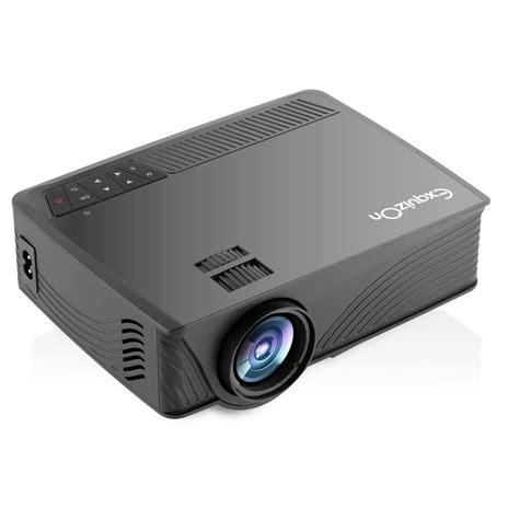 exquizon gp  lumens led mini projector multimedia