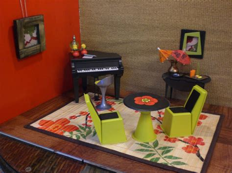 Funky Bar Accessories Doll House Piano Sushi Bar Funky Modern Complete Room