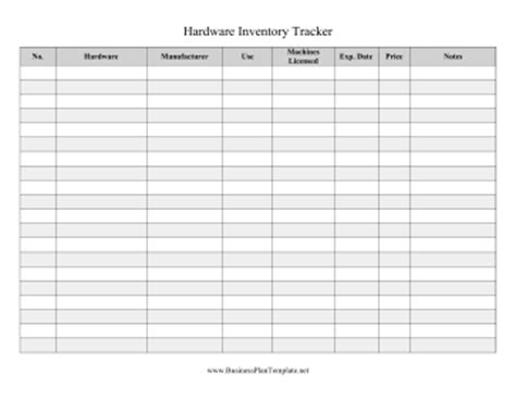 hardware inventory tracker