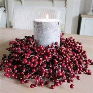 candle ring snow red berries berries wreath candle ring bliss and bloom ltd