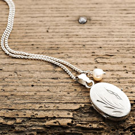Take Photos With This Vintage Locket by Vintage Locket Necklace On Chain With Pearl Charm Harry