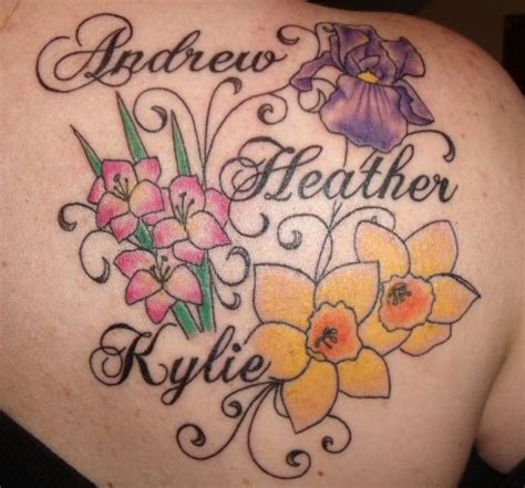 tattoos for moms with kids names tattoos for with names cars