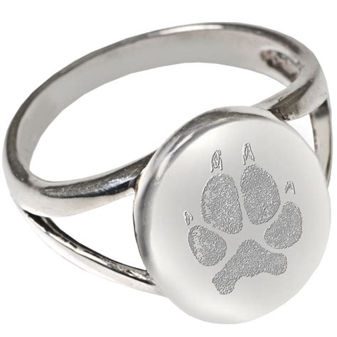 wholesale pet print jewelry sterling silver oval quot v quot ring