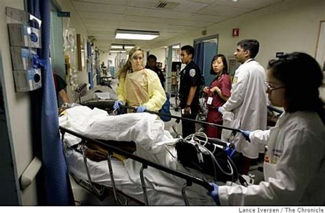 hospital emergency room overcrowded er points to larger problems sfgate