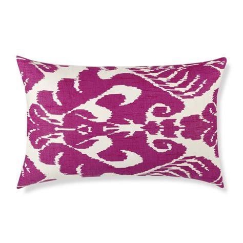 Medallion Pillow Covers by Silk Ikat Medallion Lumbar Pillow Cover Rasberry