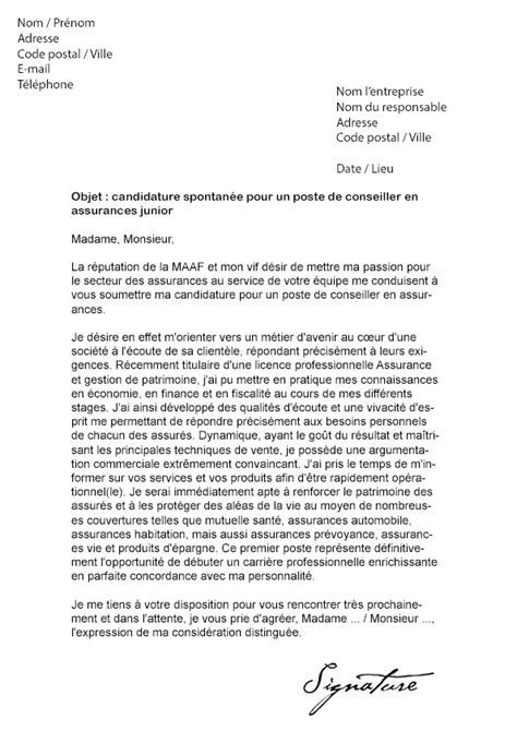 Lettre De Motivation Banque Finance Assurance Lettre De Motivation Maaf Mod 232 Le De Lettre